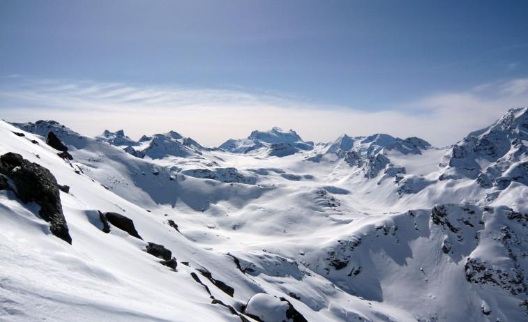 Výhľad na Grand Combin (4314 m)