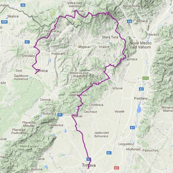 Trasa: 150 km a prevýšenie 3087 m. Klikni na obrázok pre zobreazenie trasy na Hiking.sk.