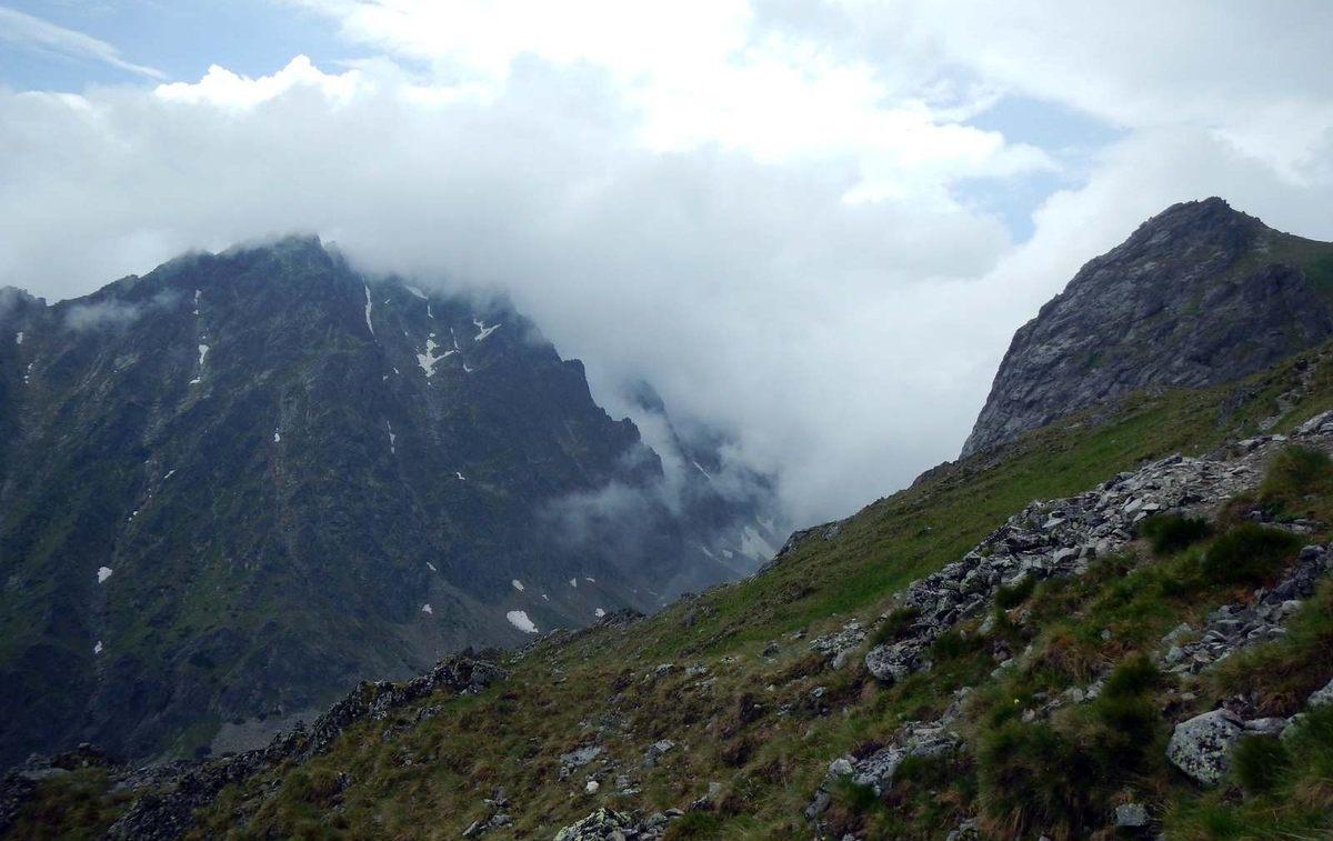 Velická stena - búrka, únik cez Granátovú lávku