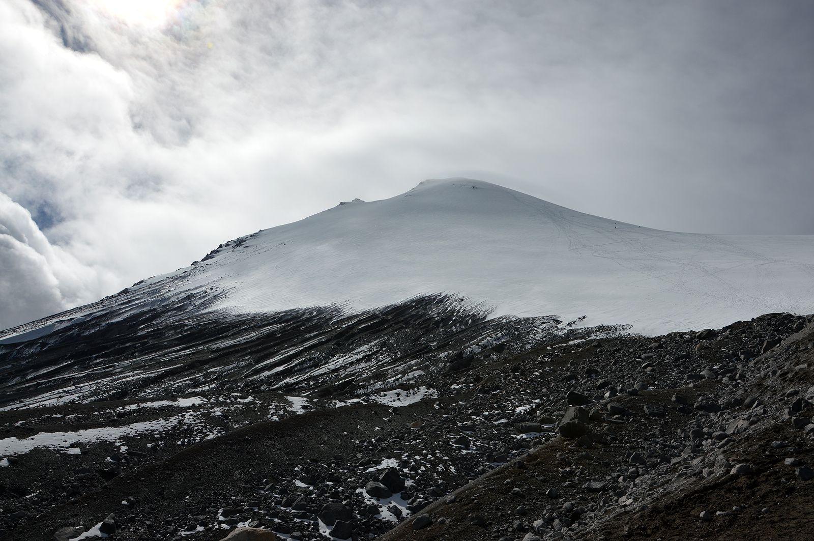 Pico de Orizaba 5640 m. Posledný pohľad na zdolanú horu.