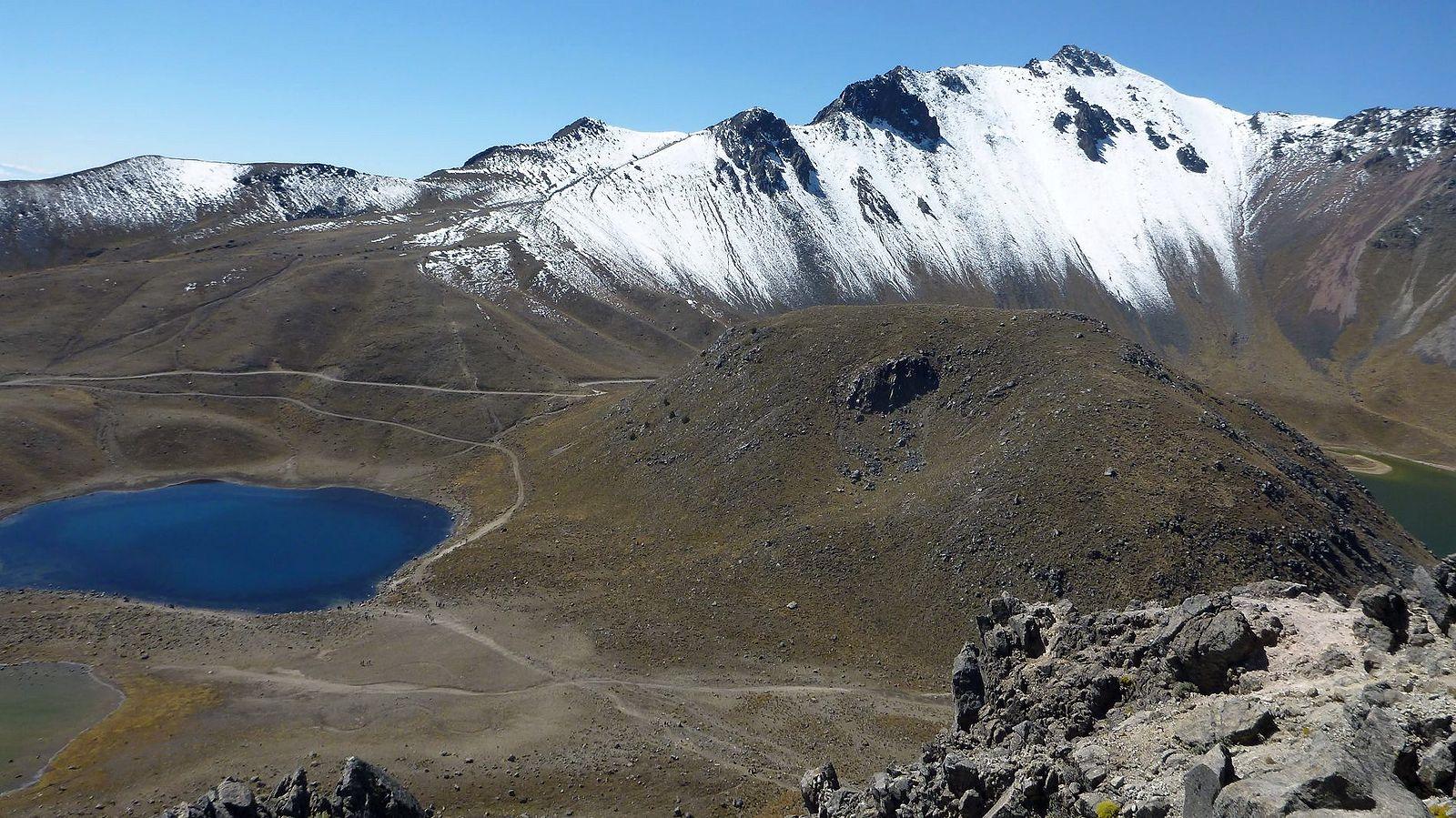 Pohľad na Nevado de Toluca 4690 m, náš posledný cieľ
