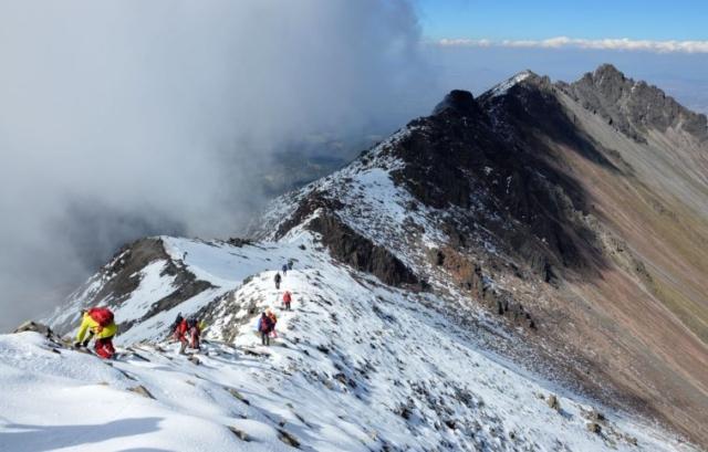 Schádzame z Nevado de Toluca 4690 m