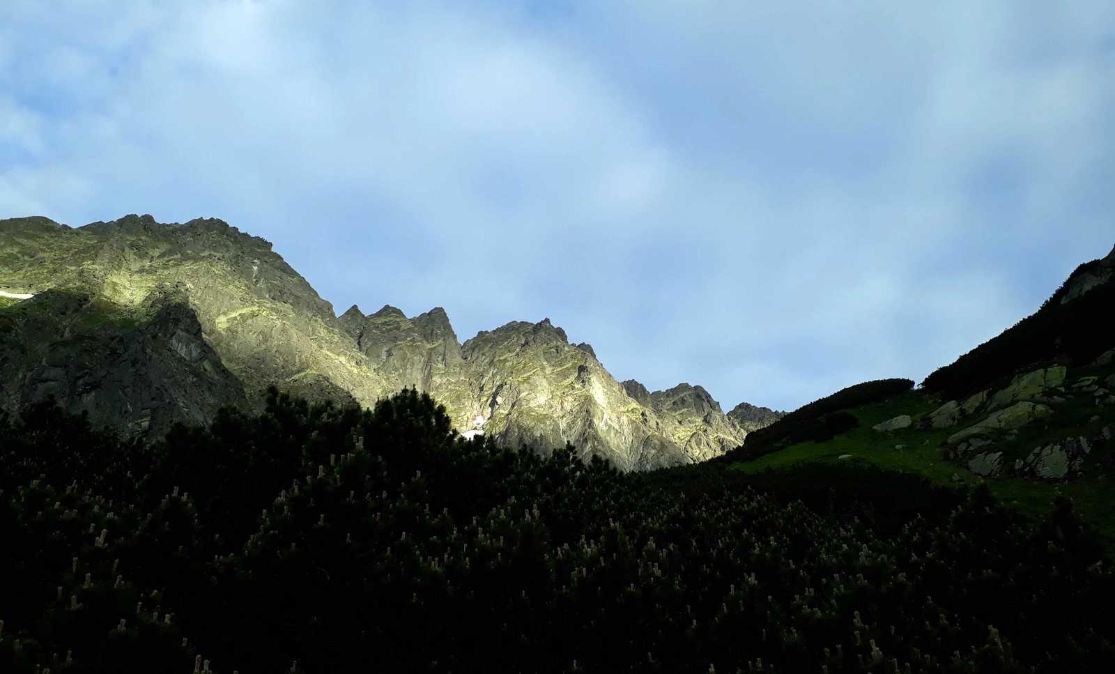 Východ slnka v Mengusovskej doline