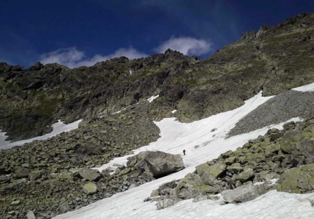 Snehové polia v závere Mlynice