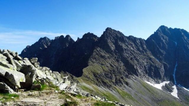 Vľavo hrebeň Bášt