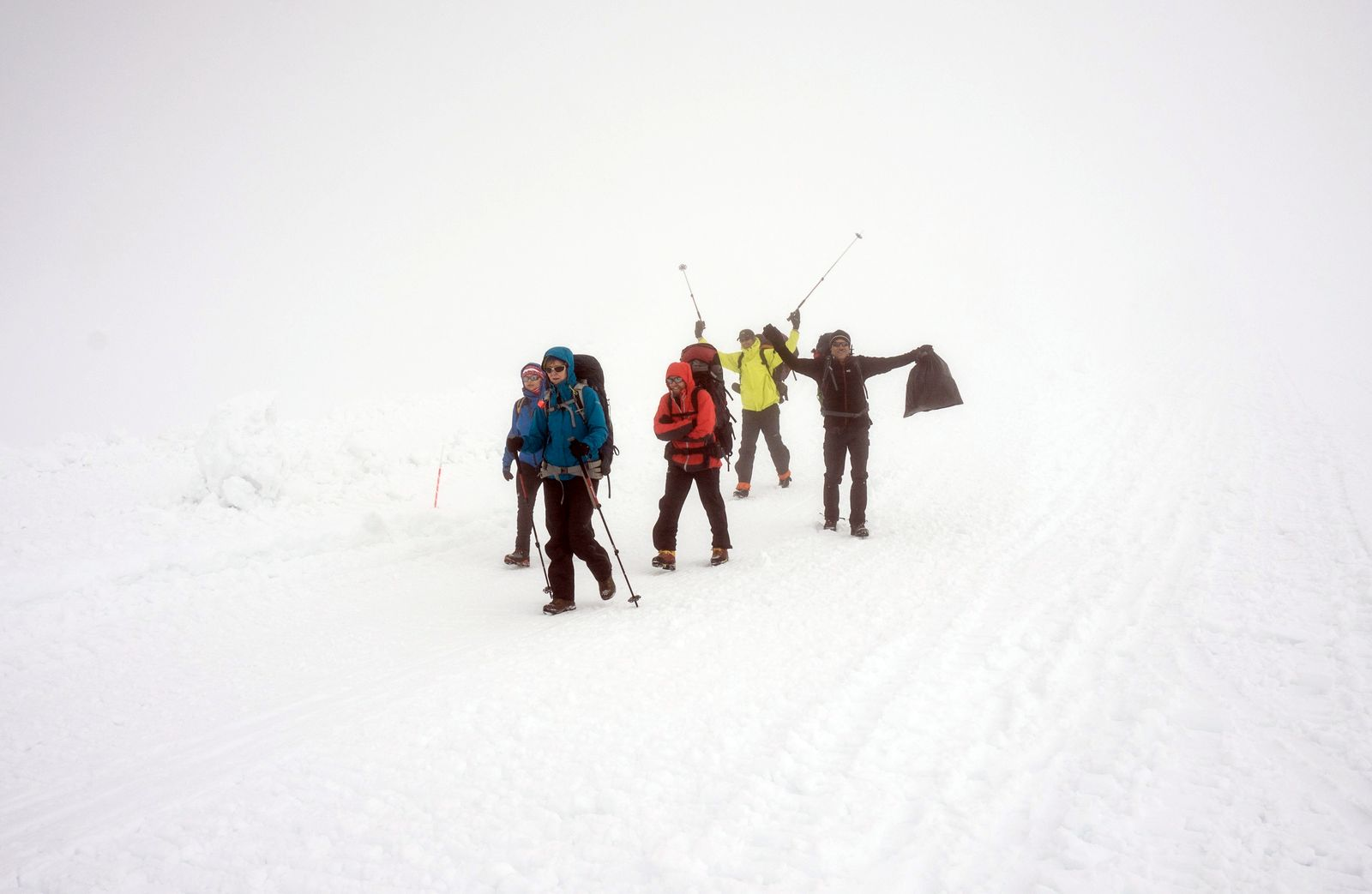 Zostup z Elbrusu