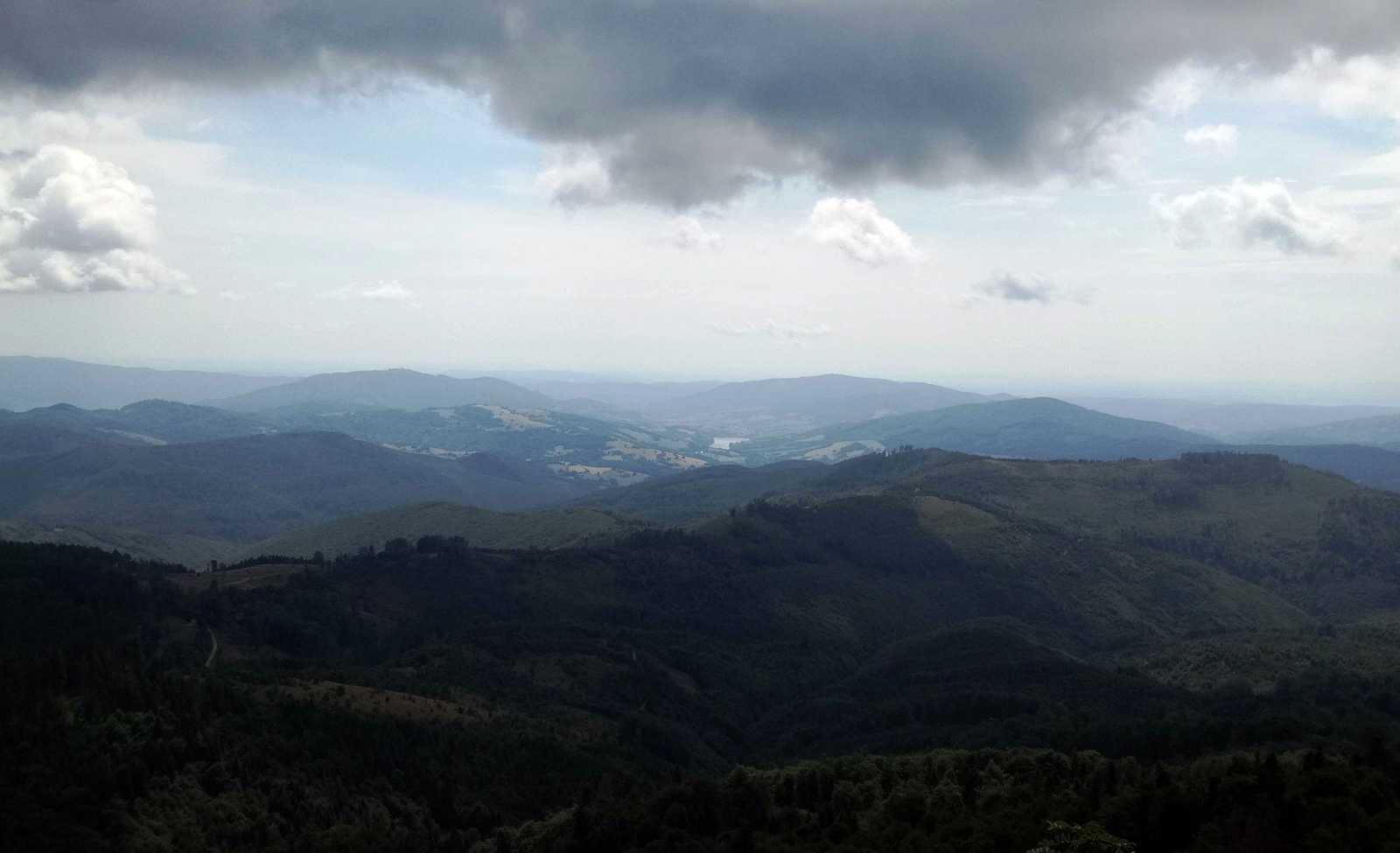 Výhľad z Klenovského Vepra