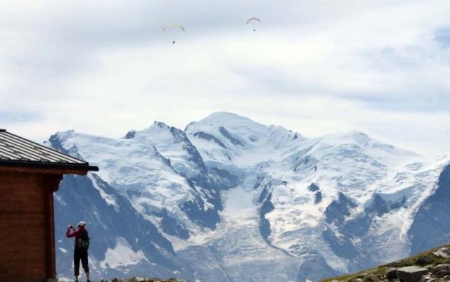 Mont Blanc od lanovky Index