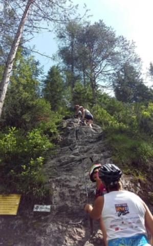 Kali klettersteig - začiatok