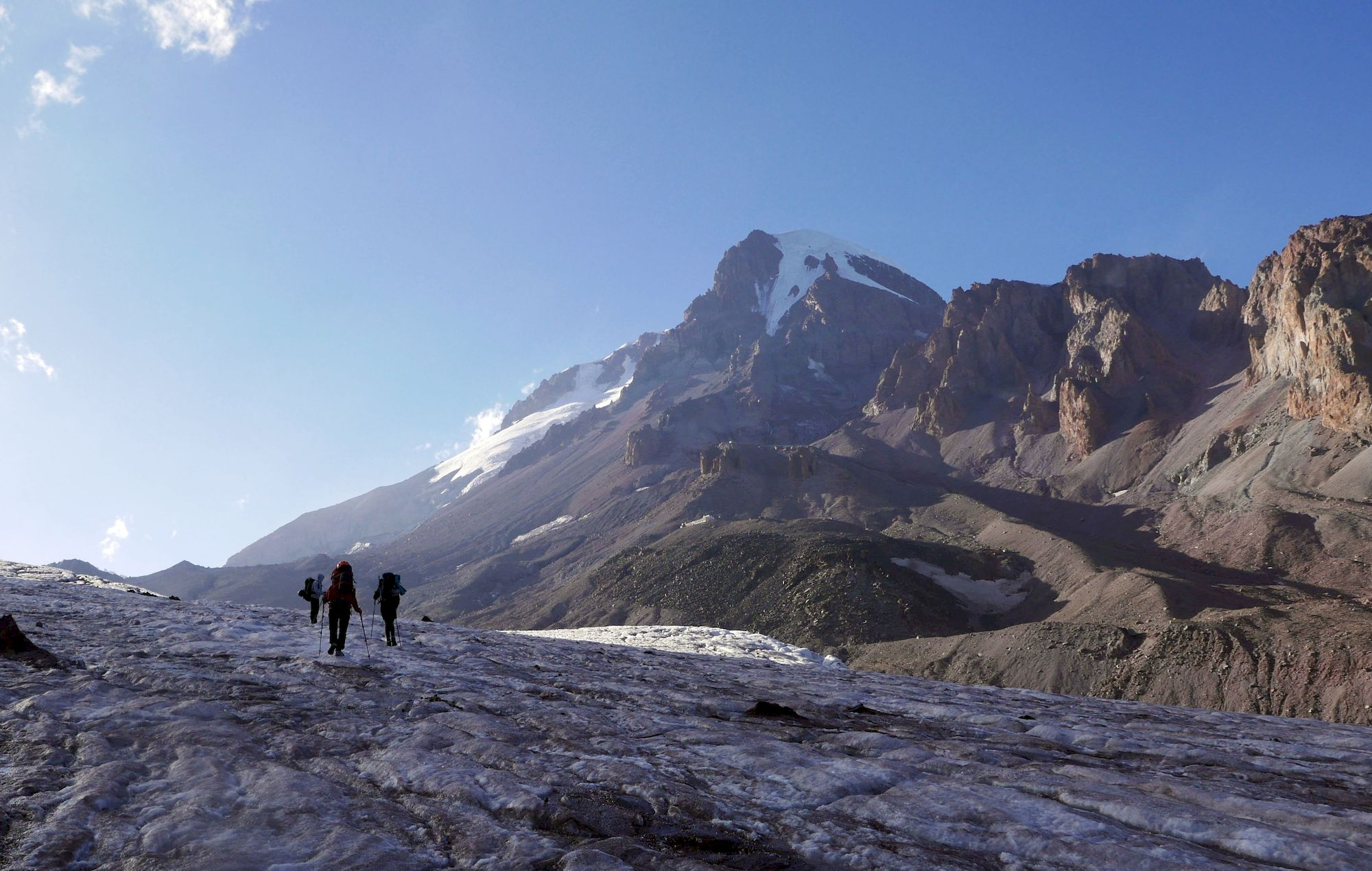 Na ľadovci Gergeti
