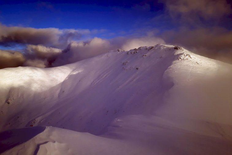 Široké severozápadné svahy Krúpovej hole