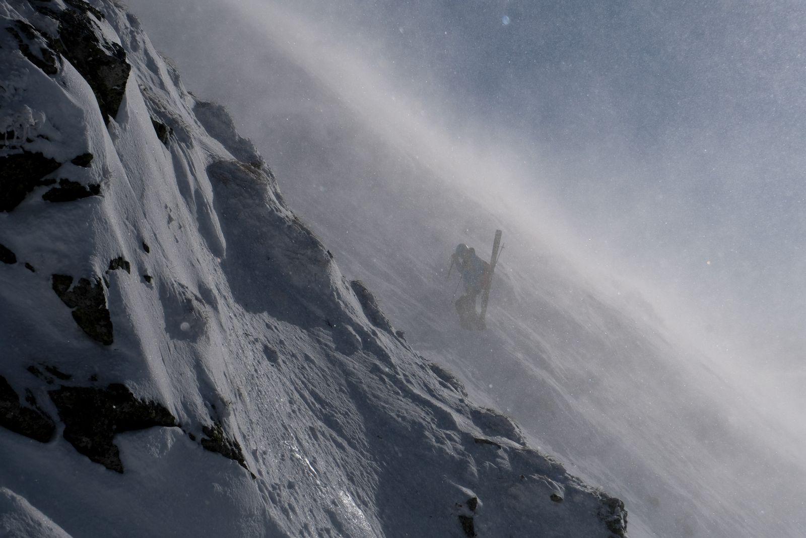Toto ešte nebolo nič oproti fujaku pod vrcholom (foto Lukáš)
