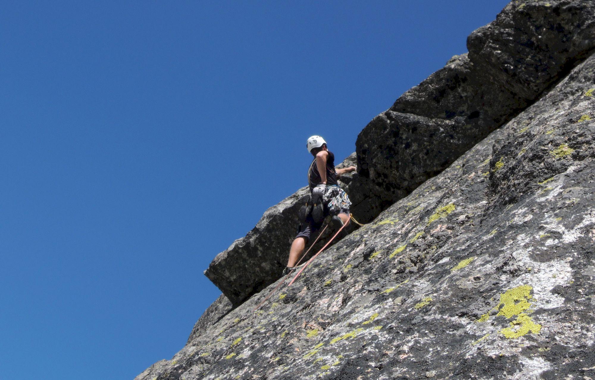 Horolezec v previšteku