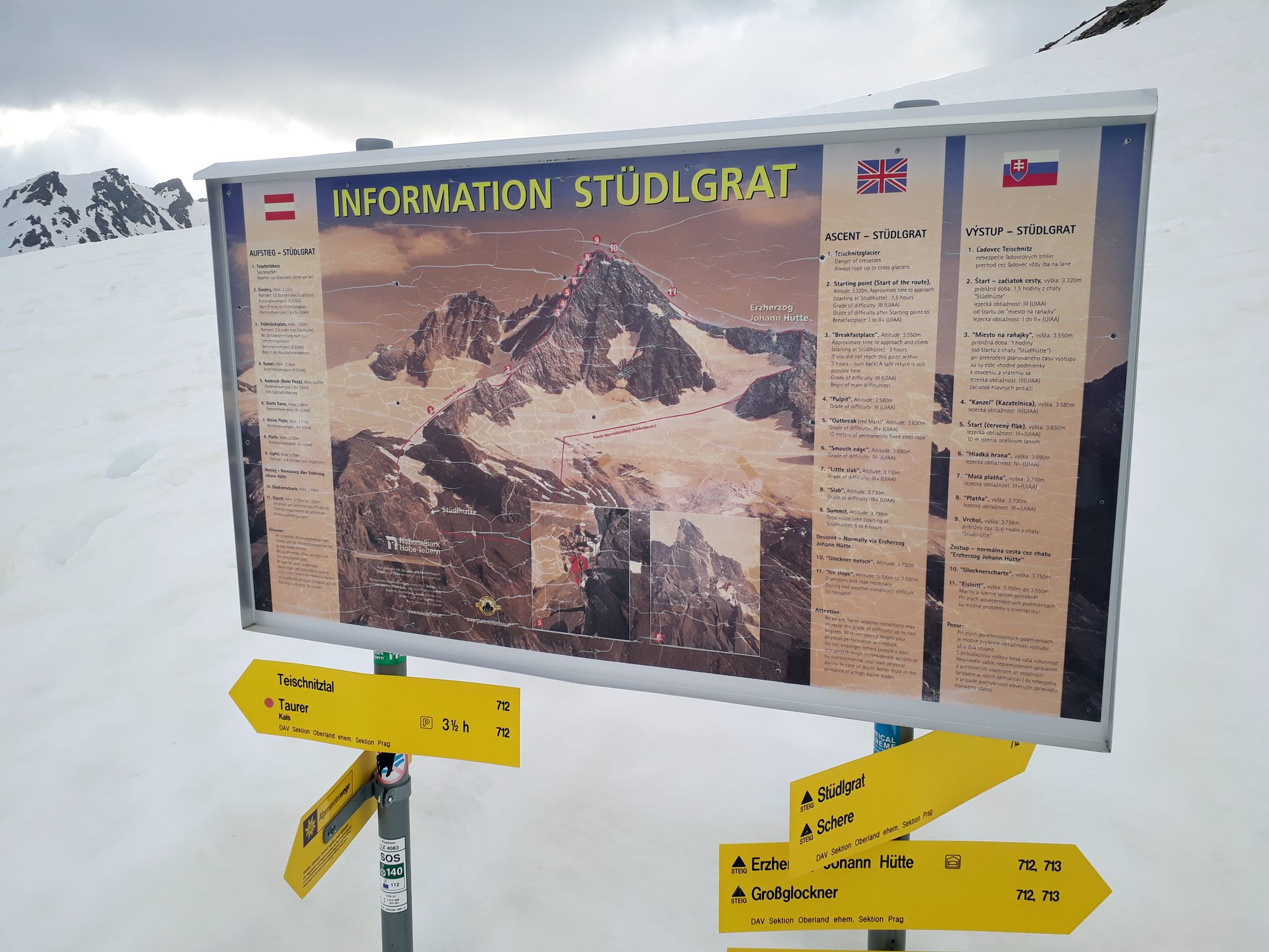 Návod na použitie Studlgratu, Slovenčina medzi tromi vybranými jazykmi