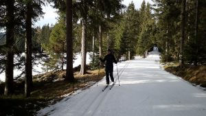 01a Joglland Loipe po umelom snehu