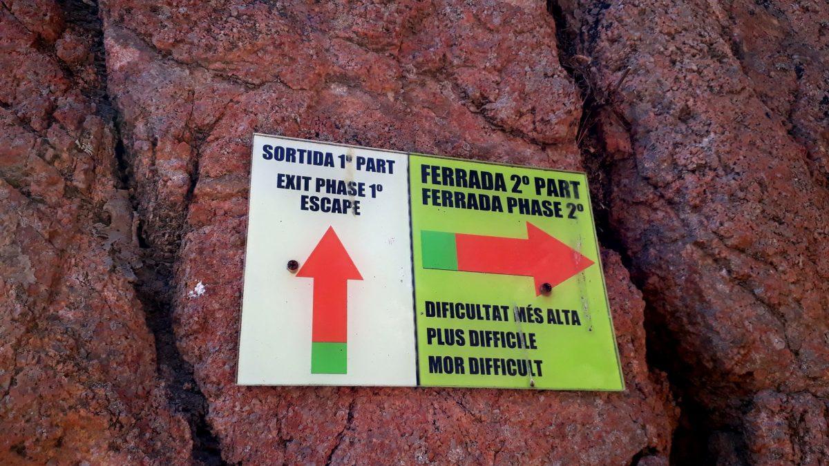 09 Cala del Moli rozdeľovník prvej a druhej časti