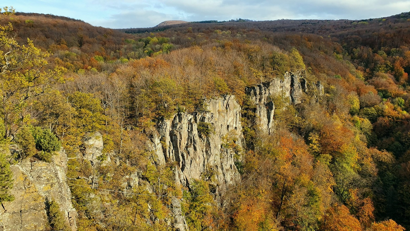 hradok 25 lanový traverz má 250 metrov