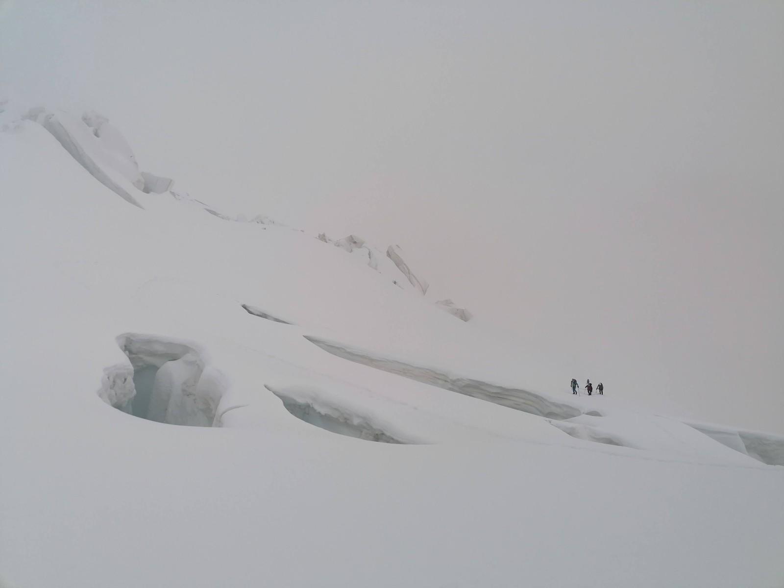 Zostup cez ľadovec do Morteratsch